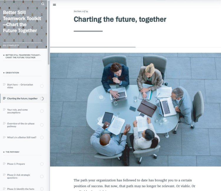 Chart the Future Together Toolkit Example